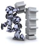 wyrzynarki łamigłówki robota target2084_0_ ilustracja wektor