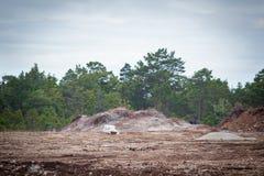 Wysadzać wapień w quarry.GN Zdjęcie Stock