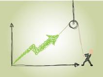 Wysiłek robić biznesowi rosnąć Ilustracja Wektor