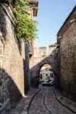 Wysklepia w ulicach stary grodzki Plovdiv, Bułgaria zdjęcia royalty free