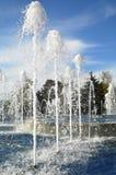 Wysoce bić up dżetową fontannę Obrazy Royalty Free