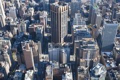 Wysoce rozwijać W centrum Manhattan w kierunku Wschodniej rzeki strony, NYC, usa obraz royalty free