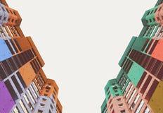 Wysocy budynki miasto Zdjęcia Royalty Free