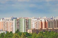 Wysocy budynki mieszkalni cityscape fotografia stock