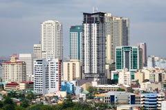 Wysocy budynki w Manila, Filipiny Obrazy Stock