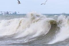 Wysocy burza przypływy zdjęcie royalty free