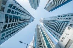 Wysocy Dubaj Marina drapacze chmur w UAE fotografia royalty free