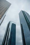 Wysocy nowożytni szklani drapacze chmur Zdjęcie Royalty Free