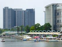 Wysocy nowożytni budynki w Szanghaj Zdjęcia Royalty Free
