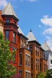 Wysocy rzędów domy w historycznym sąsiedztwie washington dc, usa fotografia stock