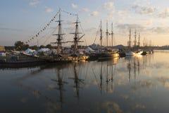 Wysocy statki na Fox rzece Obraz Royalty Free