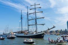 Wysocy statki przy żaglem 2015, Amsterdam holandie Zdjęcia Royalty Free