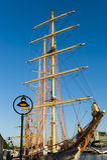 Wysocy statki przy Dublin zatoką Zdjęcie Stock