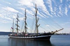 WYSOCY statki REGATA Varna, Bułgaria Obraz Stock