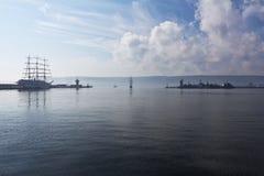 WYSOCY statki REGATA Varna, Bułgaria Fotografia Stock