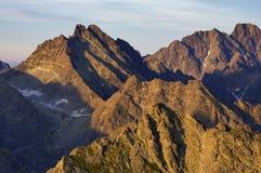 Wysocy Tatras szczyty Obraz Stock