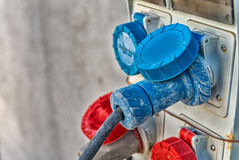 Wysocy woltaż władzy włączniki przemysłowe środowiska zdjęcie royalty free