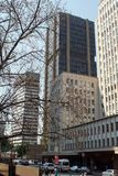 Wysocy wzrostów budynki w śródmieściu, Johannesburg, Południowa Afryka obraz royalty free