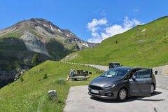 Wysoka Alpejska droga Grossglockner Obrazy Royalty Free