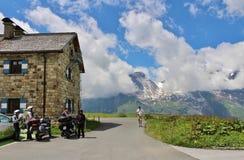 Wysoka Alpejska droga nad Grossglockner Zdjęcia Stock