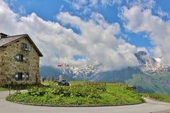Wysoka Alpejska droga nad Grossglockner Obraz Stock