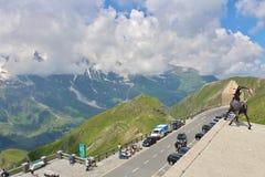Wysoka Alpejska droga nad Grossglockner Obrazy Royalty Free
