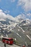 Wysoka Alpejska droga nad Grossglockner Zdjęcie Stock