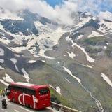 Wysoka Alpejska droga nad Grossglockner Obrazy Stock
