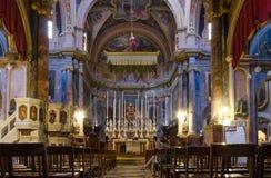 Wysoka baroku St John katedra jest dzisiaj Maltas primy atrakcją turystyczną Obrazy Stock