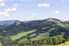 Wysoka-Bergspitze gesehen von Slowakei lizenzfreie stockbilder