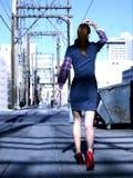 wysoka czerwone szpilki Fotografia Royalty Free
