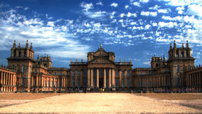 Wysoka Defenition pasma fotografia Blenheim pałac zdjęcia stock