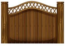 Wysoka drewniana brama ilustracji