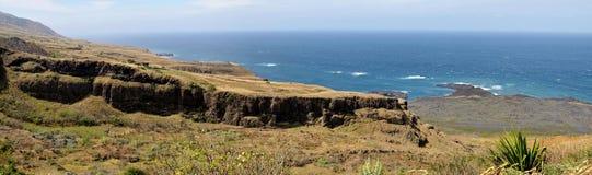 Wysoka faleza i plateau nad punktem zwrotnym Salinas Zdjęcie Stock