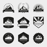 Wysoka góra loga wektorowy set Fotografia Royalty Free