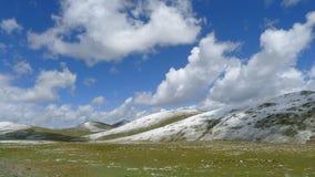Wysoka góra obszary trawiaści na Tybetańskim plateau, Chiny Obrazy Stock