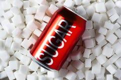 Wysoka kwota cukier w napojach obraz royalty free