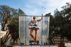 Wysoka lala na scenie w Barcelona Zdjęcie Royalty Free