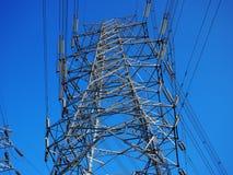 wysoka linia napięcie transformator Fotografia Royalty Free