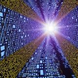 wysoka prędkość abstrakcyjne więź square tunelu ilustracji