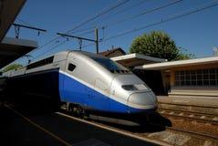 wysoka prędkość pociągu francuski fotografia stock