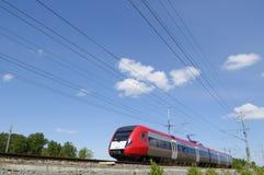 wysoka prędkość pociągu ruch Obrazy Royalty Free