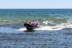 Wysoka prędkości łódź Zdjęcia Royalty Free