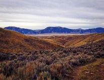 Wysoka pustynia blisko Lima, Montana Zdjęcie Stock
