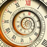 Wysoka rozdzielczość Antykwarskich starych ślimakowatych zegarów fractal abstrakcjonistyczna spirala Zegarek tekstury fractal wzo ilustracja wektor