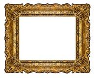 Wysoka rozdzielczość baroku stylu ramy wycinanka na białym odosobnionym dowcipie zdjęcia stock