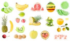 Wysoka rozdzielczość fotografia świeżej owoc set fotografia stock