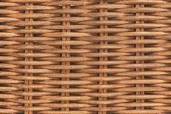 Wysoka rozdzielczość obrazek brown rattan tekstura Obrazy Stock
