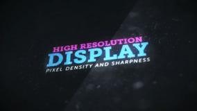 Wysoka rozdzielczość pokaz z wielką piksel gęstością, ciętością i ilustracji