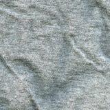 Bawełnianej tkaniny tekstura - szarość Zdjęcie Royalty Free
